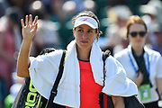 Johanna KONTA (GBR) wakes to the crowd after beating Magdalena RYBARIKOVA (SVK)  6-2, 7-5 during the women's semi-final at the Aegon Open Nottingham at Nottingham Tennis centre, Nottingham, United Kingdom on 17 June 2017. Photo by Jon Hobley.