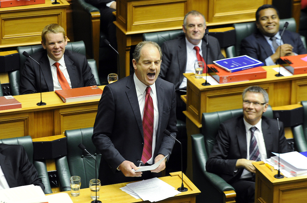 Labour leader David Shearer responds to the Governments 2013 Budget, Debating Chamber, Wellington, New Zealand, Thursday, May 16, 2013. Credit:SNPA / Ross Setford