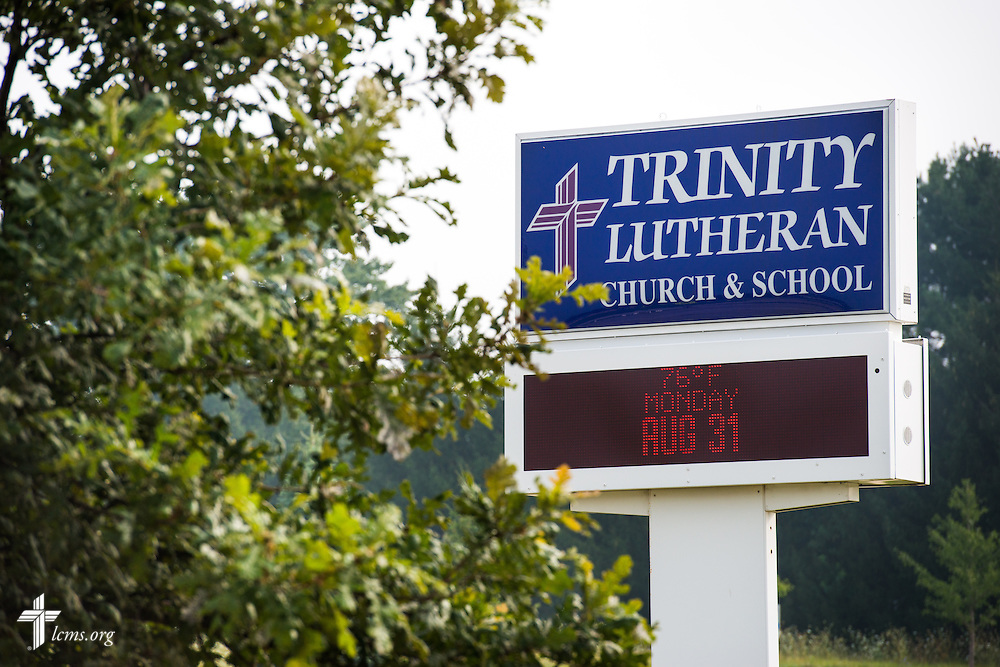 Trinity Lutheran School on Monday, August 31, 2015, in Bloomington, Ill. LCMS Communications/Erik M. Lunsford