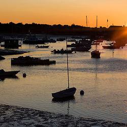 Sunset at Annisquam Harbor, in Gloucester, Massachusetts.