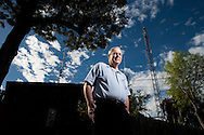 Gordon Schlesinger is an amateur HAM radio operator in the College Area. His backyard radio tower would have to be taken down if a new ordinance restricting the size of antennas applied retroactively to existing structures.