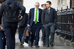 © Licensed to London News Pictures. 30/10/2019. London, UK. Leader of the Labour Party Jeremy Corbyn in Westminster. MPs have voted in favour of a 12 December general election in order to break the deadlock in parliament over Brexit. Photo credit: Rob Pinney/LNP