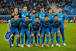 October 4, 2018 - Saint Petersburg, Russia - FC Zenit Saint Petersburg players pose for a photo during the Group C match of the UEFA Europa League between FC Zenit Saint Petersburg and SK Slavia Prague at Saint Petersburg Stadium on October 4, 2018 in Saint Petersburg, Russia. (Credit Image: © Mike Kireev/NurPhoto/ZUMA Press)