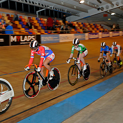 Elis Ligtlee wint de finale Keiring tijdens het Nationaal Kampioenschap in het Sportpaleis Alkmaar
