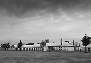 """Henley-on-Thames. United Kingdom.  """"The Lull before the Storm"""". Tuesday, """"Lion Field car park and picnic area"""" empty and quite before the Regatta """"Kick off"""" Wednesday2017 Henley Royal Regatta, Henley Reach, River Thames. <br /> <br /> 06:49:05  Tuesday  27/06/2017   <br /> <br /> [Mandatory Credit. Peter SPURRIER/Intersport Images."""