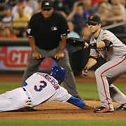 Buster Posey, San Francisco Giants, fielding at first base during the New York Mets Vs San Francisco Giants MLB regular season baseball game at Citi Field, Queens, New York. USA. 11th June 2015. Photo Tim Clayton