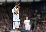 Diego Costa of Chelsea shows his frustration during the Barclays Premier League match against Everton at Goodison Park, Liverpool.<br /> Picture by Michael Sedgwick/Focus Images Ltd +44 7900 363072<br /> 12/09/2015