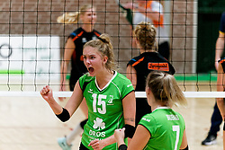 26-10-2019 NED: Dros Alterno - Set Up 65, Apeldoorn<br /> Round 4 of Eredivisie volleyball - Anna Zijl #15 of Alterno