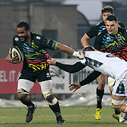 Parma - Stadio Lanfranchi  06/01/2018<br /> Guinness Pro14<br /> Zebre vs Glasgow Warriors<br /> <br /> Maxime Mband&agrave;