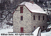 Bethlehem, PA, Early American Industrial Historic Site, Old Mill, Winter Snow