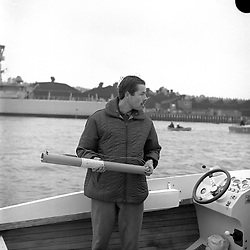 The 7th Earl of Lucan at Cowes in the Isle of Wight, UK on 3rd September 1965.