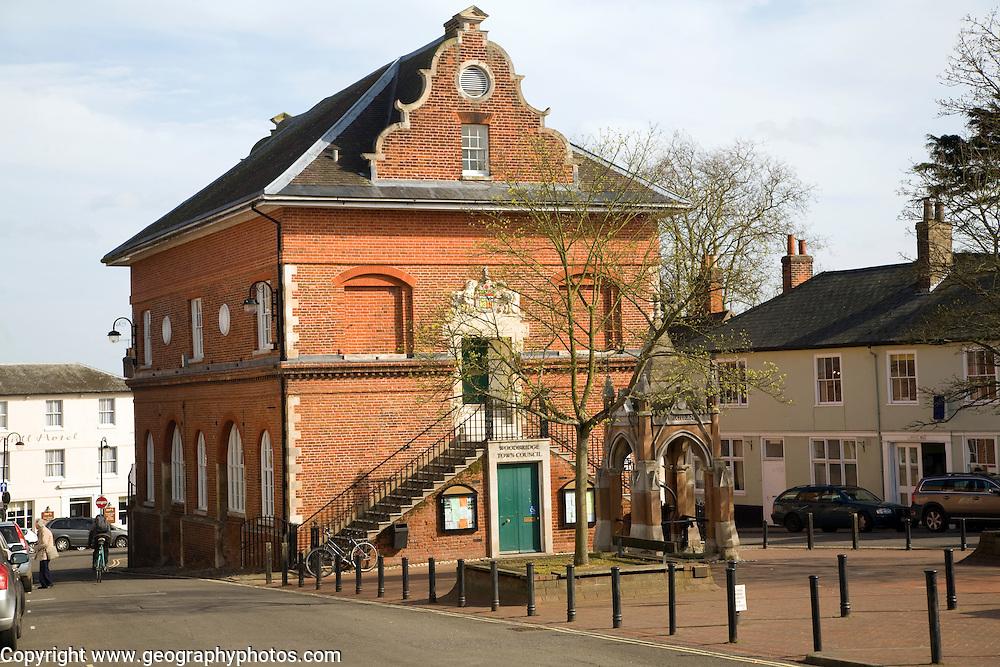 The Shire Hall on Market Hill, Woodbridge, Suffolk, England