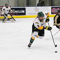 4th year forward Bailey Braden (8) of the Regina Cougars of the Regina Cougars in action during the Women's Hockey home game on January 7 at Co-operators arena. Credit: Arthur Ward/Arthur Images