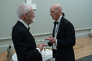 JOE TILSON; ALLEN JONES, Royal Academy of Arts Annual dinner. Piccadilly. London. 29 May 2012.
