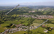 aerial photograph of Groes Faen Cardiff Wales  UK