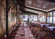 family eating in Italian restaurant