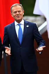 May 26, 2017 - Taormina, Sicily, Italy - The President of the European Council Donald Tusk during the welcome ceremony and the photo family at Taormina, Italy on May 26, 2017...Photo Matteo Ciambelli / NurPhoto  (Credit Image: © Matteo Ciambelli/NurPhoto via ZUMA Press)