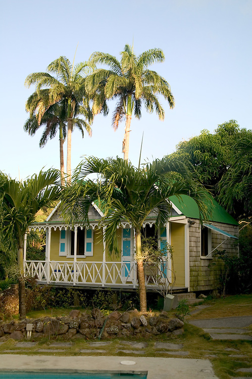 """The """"Twin Gables"""" deluxe cottages at the Hermitage Plantation Inn, Nevis 4/05"""