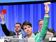 Joint leader Frauke Petry  during the fifth Alternative for Germany (AfD) party convention at the Messe Stuttgart, Stuttgart, Germany.<br /> Picture by EXPA Pictures/Focus Images Ltd 07814482222<br /> 30/04/2016<br /> <br /> ***UK & IRELAND ONLY***<br /> <br /> EXPA-EIB-160430-0070.jpg