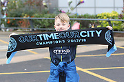 Young City fan during the The FA Cup 3rd round match between Manchester City and Rotherham United at the Etihad Stadium, Manchester, England on 6 January 2019.