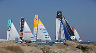 The Extreme Sailing Series 2013. Act 1. <br /> <br /> Showing the fleet<br /> <br /> Muscat. Oman<br /> Please credit: Lloyd Images