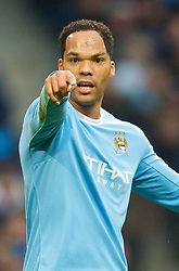 MANCHESTER, ENGLAND - Saturday, November 28, 2009: Manchester City's Joleon Lescott during the Premiership match against Hull City at the City of Manchester Stadium. (Photo by David Rawcliffe/Propaganda)