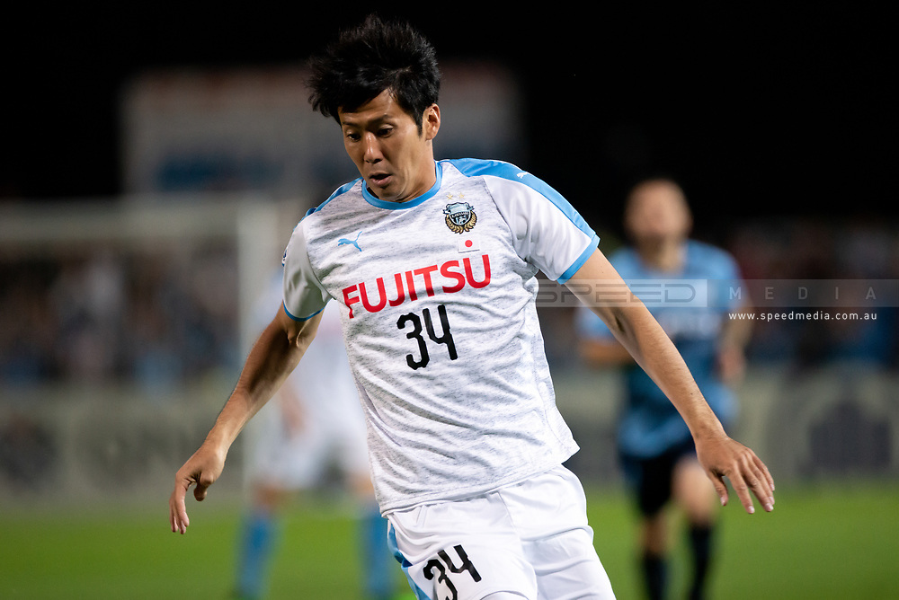 SYDNEY, AUSTRALIA - MAY 21: Kawasaki Frontale player Kazuya Yamamura (34) at AFC Champions League Soccer between Sydney FC and Kawasaki Frontale on May 21, 2019 at Netstrata Jubilee Stadium, NSW. (Photo by Speed Media/Icon Sportswire)