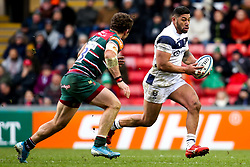 Charles Piutau of Bristol Bears takes on Jaco Taute of Leicester Tigers - Mandatory by-line: Robbie Stephenson/JMP - 04/01/2020 - RUGBY - Welford Road - Leicester, England - Leicester Tigers v Bristol Bears - Gallagher Premiership Rugby
