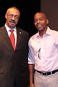 21 July 2011- Harlem, NY-l to r: Carlton E. Brown and Dr. Khalil Gibran Muhammad at the 2011 Harlem Book Fair held along West 135th Street and at The Schomburg Center on July 23, 2011 in the village of Harlem, USA. Photo Credit: Terrence Jennings