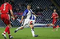 Photo: Paul Thomas.<br /> Blackburn Rovers v SV Red Bell. UEFA Cup. 28/09/2006.<br /> <br /> David Bentley of Blackburn volleys in a goal.
