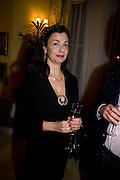 MARIE-ATHENA PAPATHANASIOU. Mrs. Richard Briggs at home to celebrate Catherine Meyer's birthday. Sloane Gardens. London. 28 January 2009