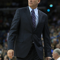 06 February 2009:  Toronto Raptors coach Jay Triano watches his team during a 101-92 win by the New Orleans Hornets over the Toronto Raptors at the New Orleans Arena in New Orleans, LA.