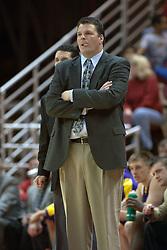 12 February 2005<br /> <br /> UNI Head Coach Greg McDermott.<br /> <br /> Illinois State University Redbirds V Northern Iowa Panthers Mens NCAA Missouri Valley Conference Basketball.  Redbird Arena, Illinois State University, Normal IL