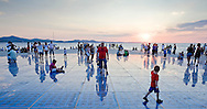 Sunset on the waterfront and Greetings to the Sun, Zadar, Croatia