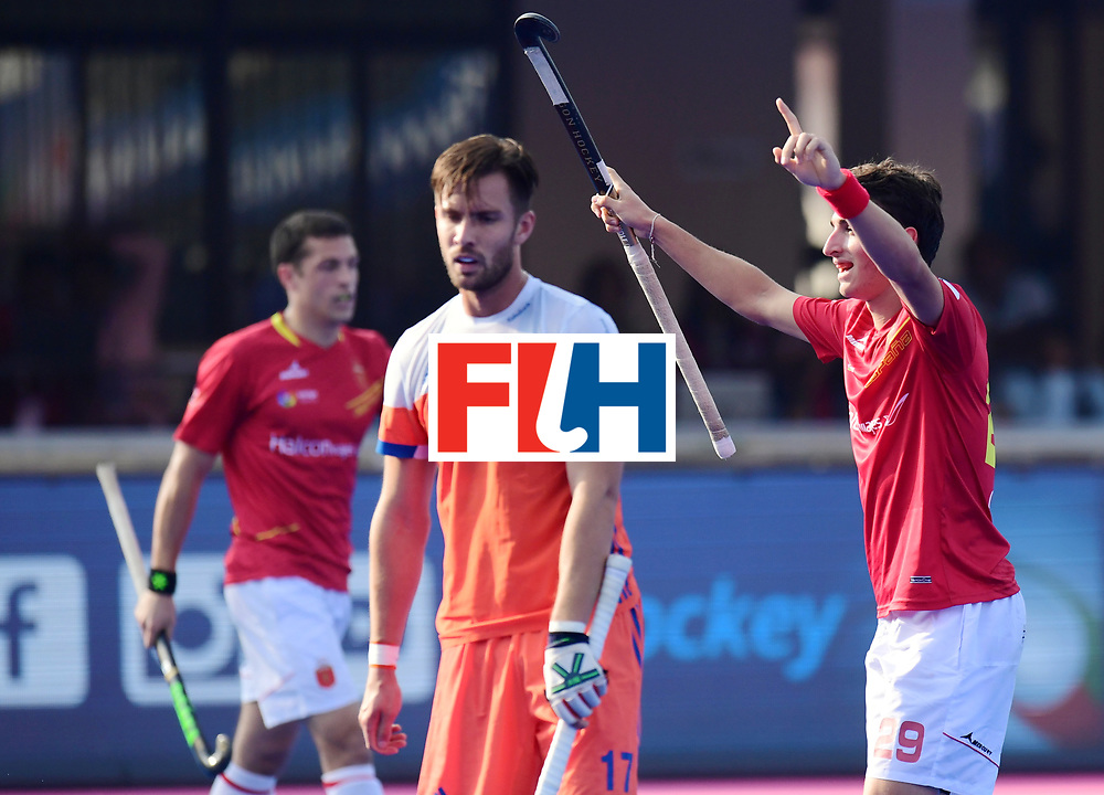 Odisha Men's Hockey World League Final Bhubaneswar 2017<br /> Match id:04<br /> Netherlands vs Spain<br /> Foto: Spain scored a goal Marc Bolto (Esp) <br /> WORLDSPORTPICS COPYRIGHT FRANK UIJLENBROEK