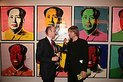 TUDOR DAVIES AND MARK ARMSTRONG, Post War and contemporary art party, Hosted by Christies and Vanity Fair. Old Brompton Rd. London. 10 October 2007. -DO NOT ARCHIVE-© Copyright Photograph by Dafydd Jones. 248 Clapham Rd. London SW9 0PZ. Tel 0207 820 0771. www.dafjones.com.