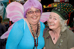 Women dressed up as a fairy and elf at the WOMAD (World of Music; Arts and Dance) Festival in reading; 2005,
