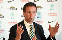 06/06/14<br /> CELTIC PARK - GLASGOW<br /> Ronny Delia addresses the media after being announced as the new Celtic manager