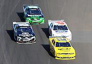 Nov. 12 2011; Avondale, AZ, USA; NASCAR Nationwide Series driver Sam Hornish Jr. leads Carl Edwards (60) , Ricky Stenhouse Jr. (6) and Joey Logano (18) during the Wypall 200 at Phoenix International Raceway. Mandatory Credit: Jennifer Stewart-US PRESSWIRE
