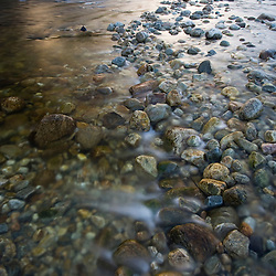 Cobblestones in the West River in Jamaica, Vermont.