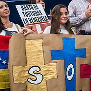 PROTESTA PACIFICA POR VENEZUELA - HOMENAJE A LOS CAIDOS - PANAMA 15-03-2014