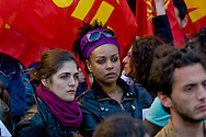 Roma 21 Aprile 2015<br /> Manifestazione  nazionale delle associazioni di migranti, sindacati e ONG, in Piazza Montecitorio, all'indomani del naufragio che ha causato la morte di 900 migranti, per chiedere un corridoio umanitario e una politica di accoglienza dignitosa.<br /> Rome April 21, 2015<br /> National demonstration of migrant associations, trade unions and NGOs, in Piazza Montecitorio, in the aftermath of the wreck that caused the death of 900 migrants, ask for a humanitarian corridor and a policy of dignified reception.