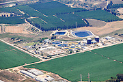 Aerial Photography of a water treatment plant. Photographed in Israel
