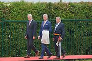 Ceremony of the bicentenary of the Battle of Waterloo. Waterloo, 18 june 2015, Belgium<br /> Pics: Pieter Decrem minister, Gerard Couronne mayor of Genappe