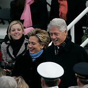 Presidential Inauguration 2005- GEORGE W. BUSH.Washington, DC.01/20/2005.West Front - US Capitol.Bill and Hillary Clinton..Photo by Khue Bui..