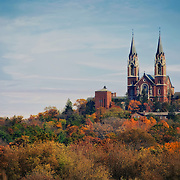 Photos taken at Holy Hill in the fall. Holy Hill National Shrine of Mary is a Roman Catholic shrine dedicated to the Virgin Mary. It is located in Erin, near Hubertus Wisconsin.