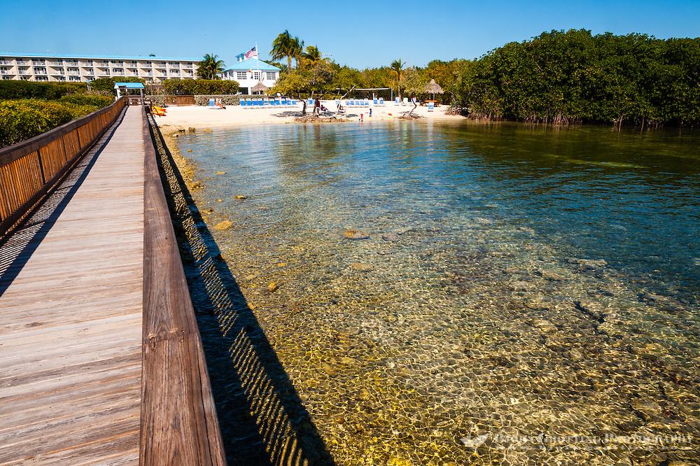 US, Florida, Key Largo. Coast outside Ocean Point Suites, Tavernier.