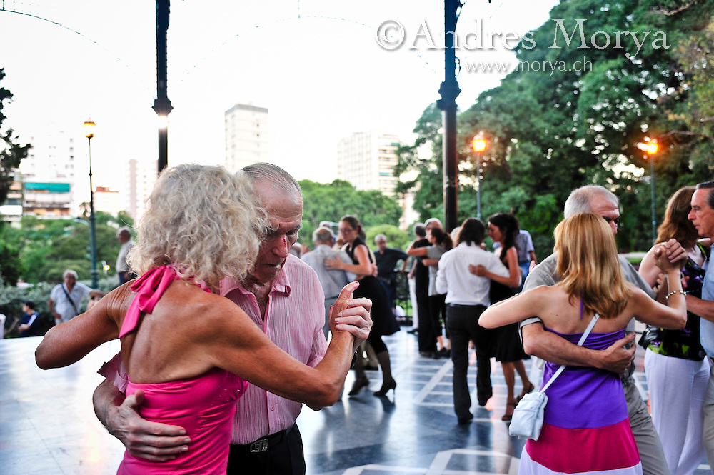 Tango Dancers in the Outdoor Milonga La Glorieta, Buenos Aires, Argentina Image by Andres Morya