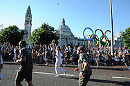 Olympic torch relay, Cardiff, 25th May 2012. pic by Andrew Orchard, Andrew Orchard sports photography,