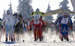 From left Charloette Kalla (SWE), Vibeke W. Skofterud (NOR) and behind her Petra Majdic (SLO), Riitta-Liisa Roponen (FIN) at Ladies 15 km Classic Mass Start Competition of Viessmann Cross Country FIS World Cup Rogla 2009, on December 20, 2009, in Rogla, Slovenia. (Photo by Vid Ponikvar / Sportida)
